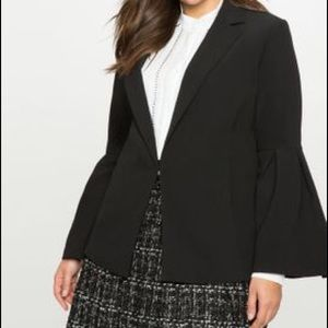 Sophisticated Black Bell Sleeve Blazer